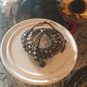 Lucky Brand leather wrap bracelet